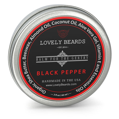 Black Pepper Beard Balm by Lovely Beards