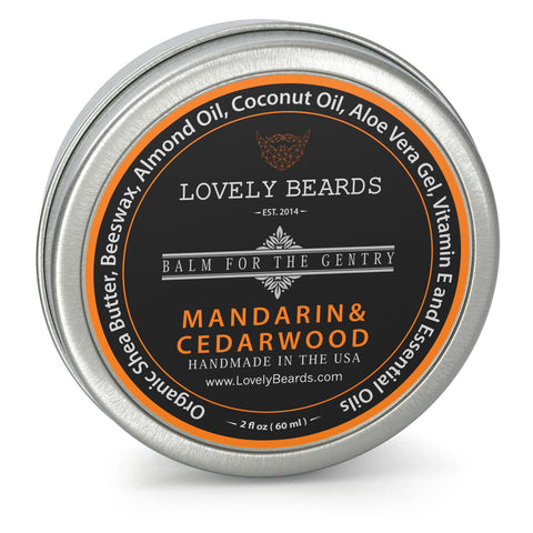 Mandarin Cedarwood Beard Balm by Lovely Beards