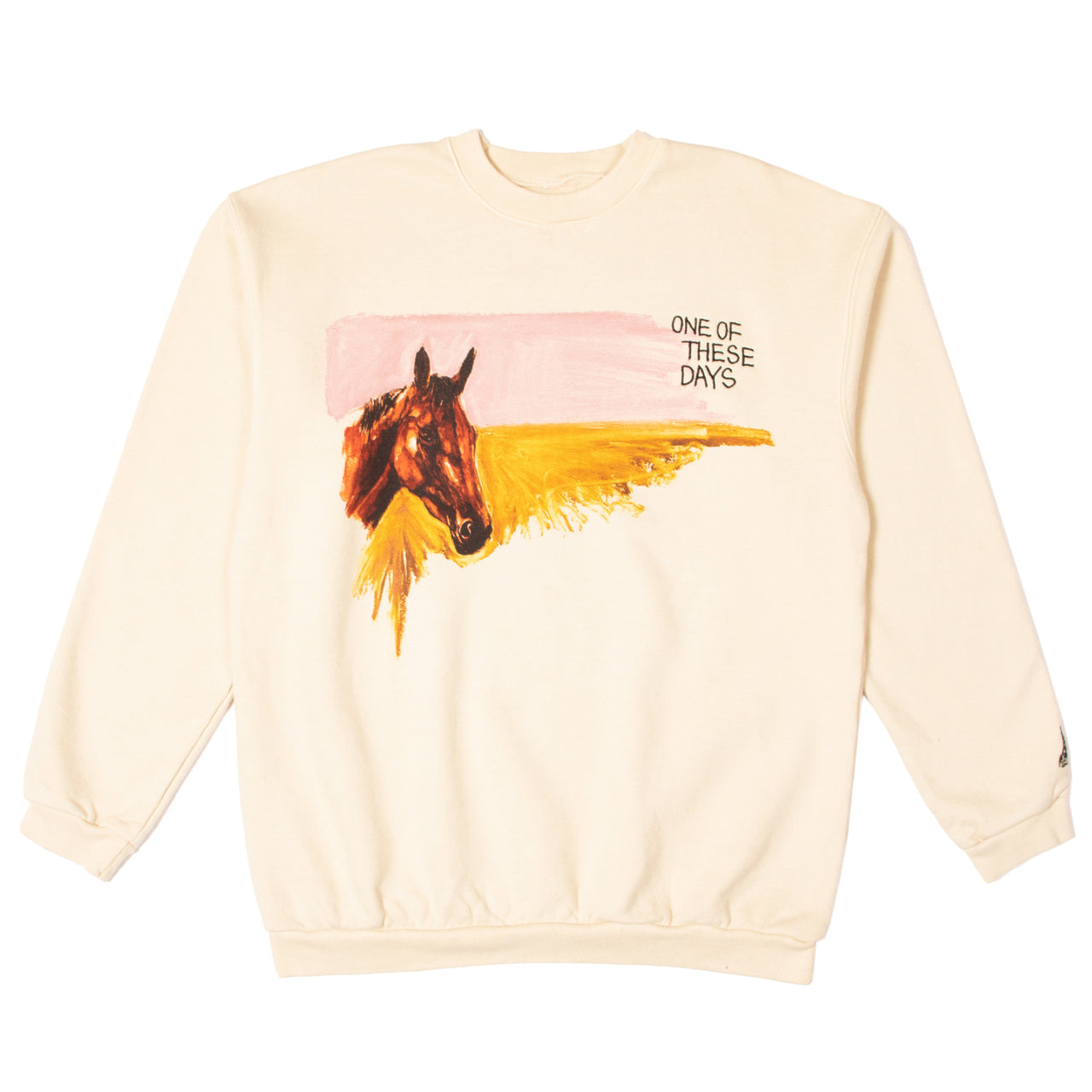 """HORSE IS KING"" CREWNECK SWEATSHIRT - IVORY"