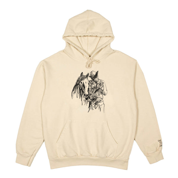 """WHERE DID THE TIME GO"" HOODED SWEATSHIRT - IVORY"