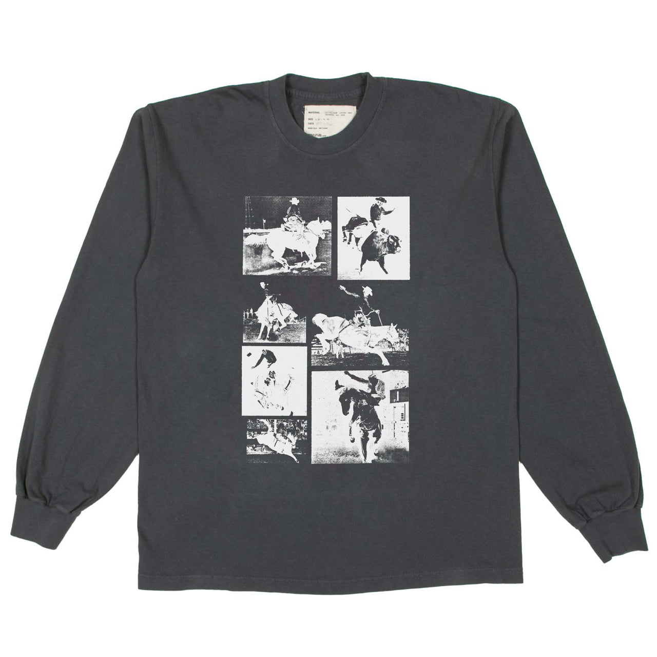 """RODEO"" LONGSLEEVE SHIRT - WASHED BLACK"