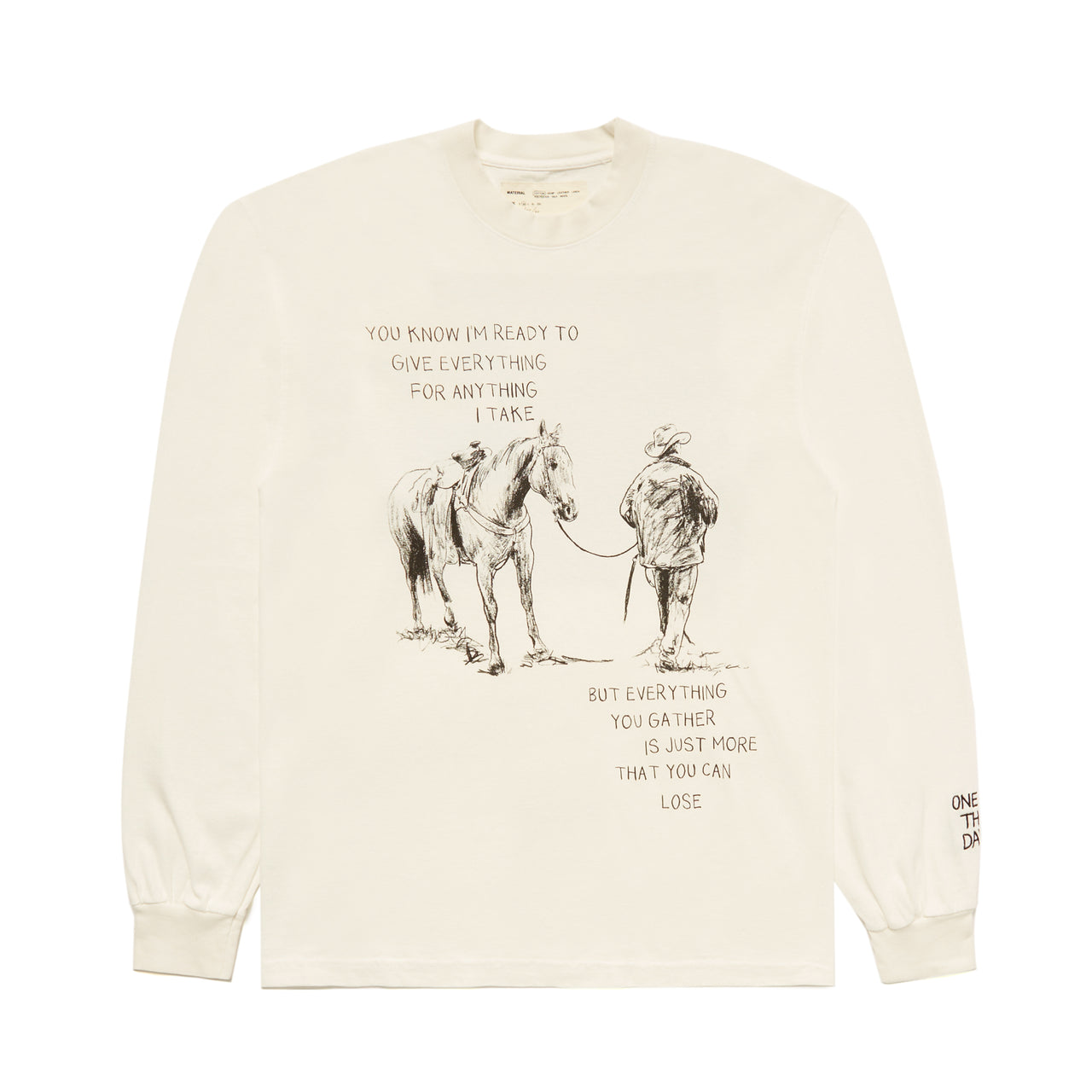 """SECRET OF ETERNAL"" LONGSLEEVE SHIRT - IVORY"