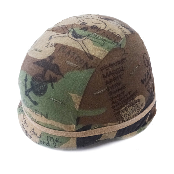Hand Drawn by Matt McCormick Vintage Military Helmet