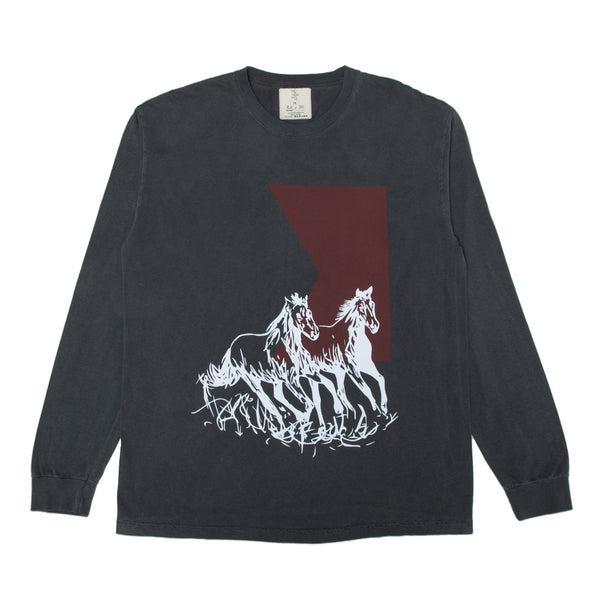 """Running Horses"" Long Sleeve Shirt"
