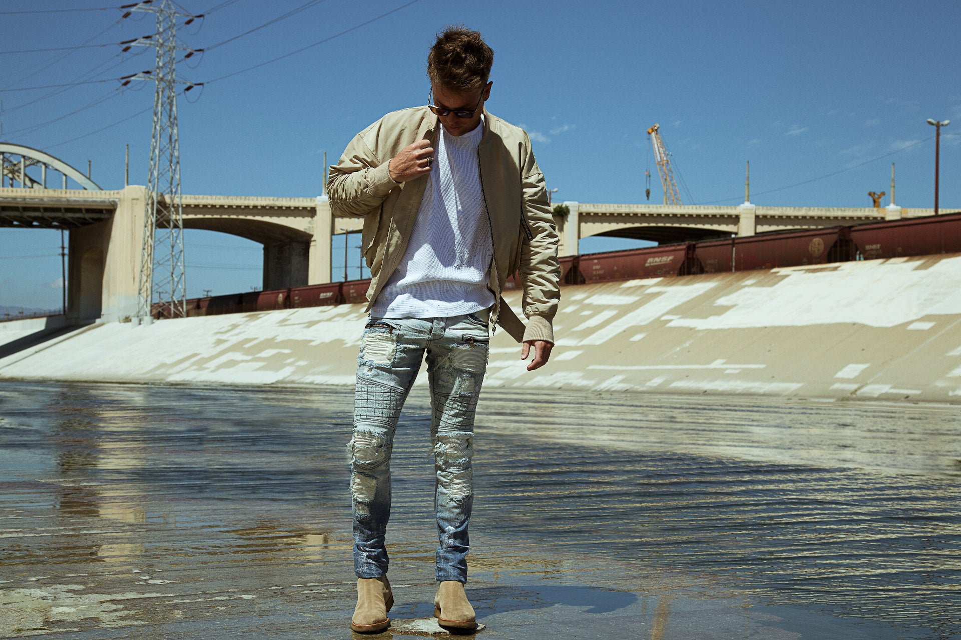 Downtown Denim LA River Shoot