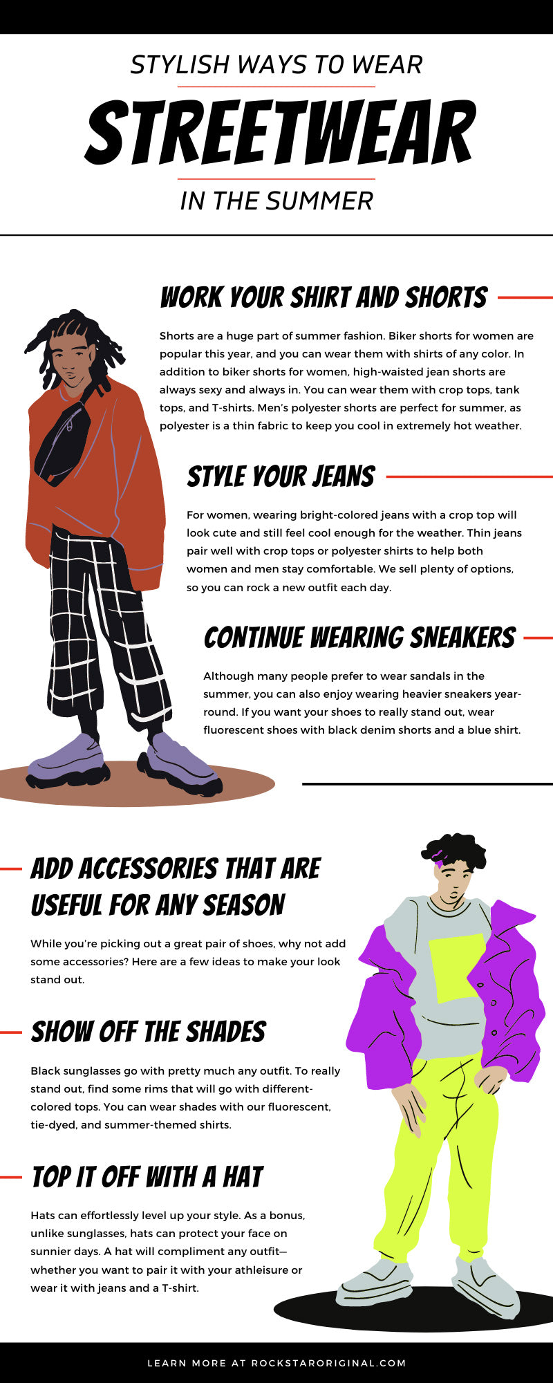While many people wear streetwear for cooler seasons, you can wear it in the summer as well. Here are some stylish ways to wear streetwear in the summer.