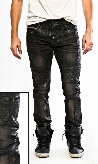 Shadow Brown - Biker Jeans