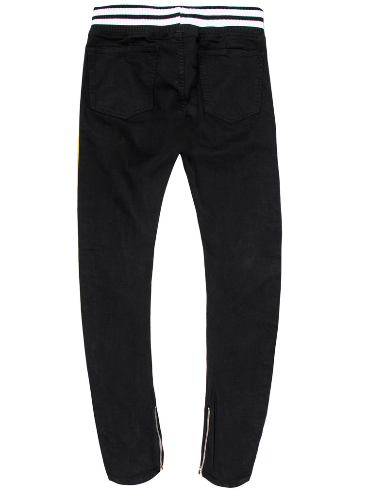 Chaz Black Biker Jeans (Outlet)
