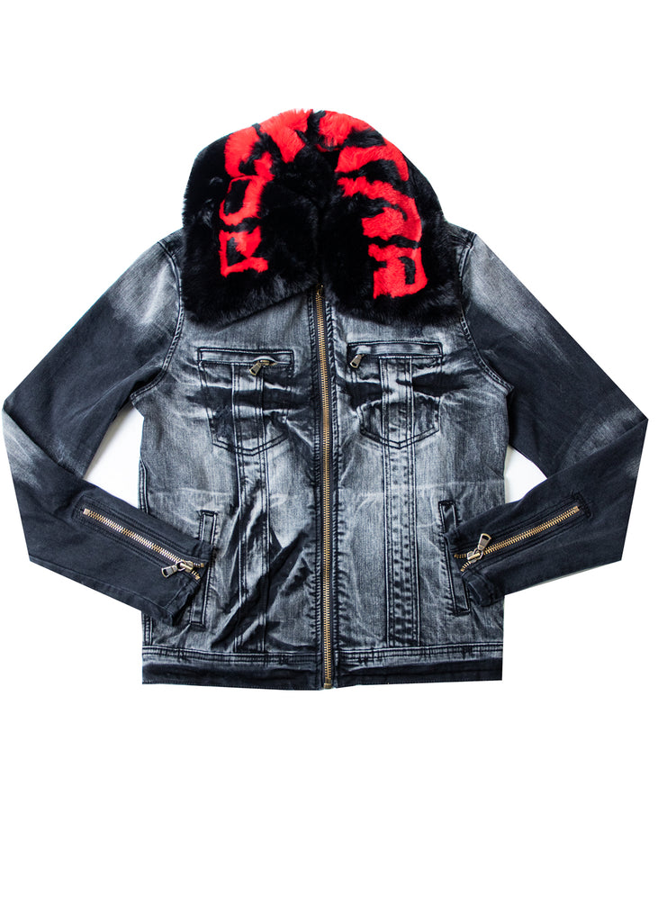 FABE BLK Jacket  (Red/Blk)