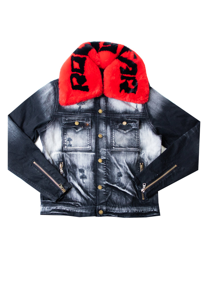 FABE Black Jacket (Blk/Red)