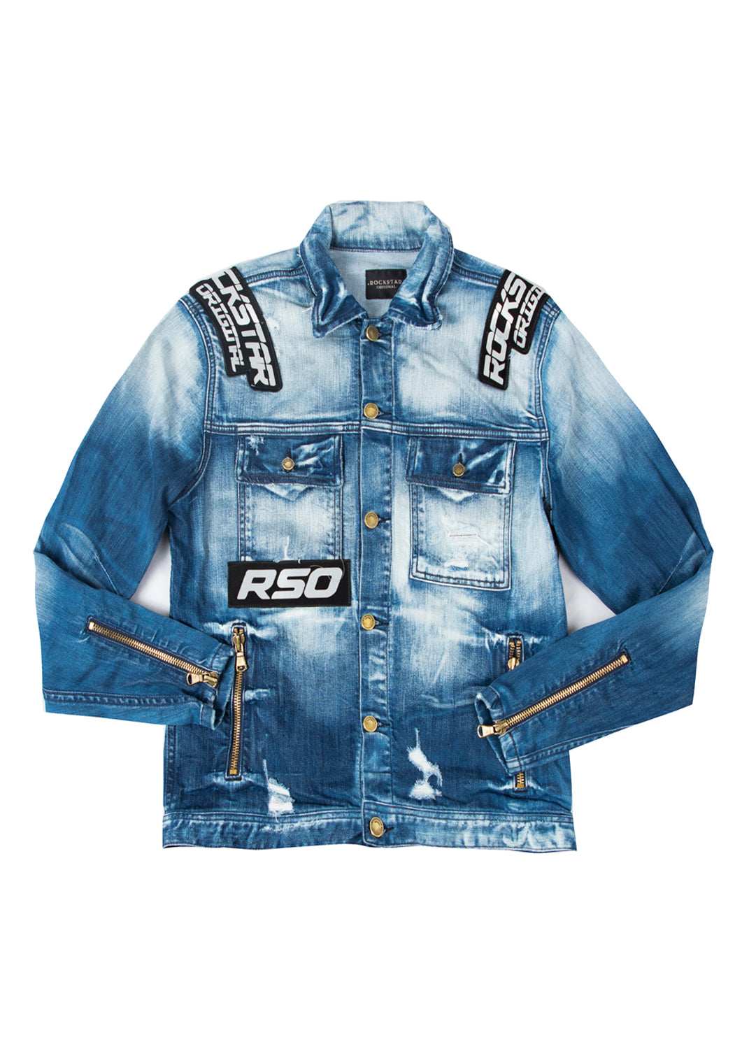 Flow Biker Jacket (Blue)