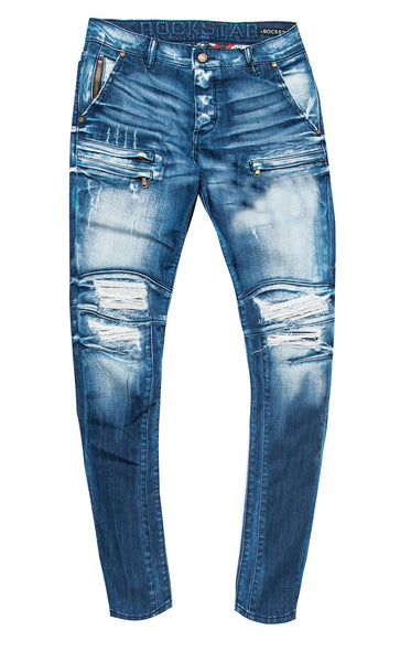 Thompson Biker Jeans (Blue)