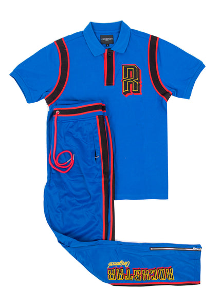 Horus (Blue) Polo Set