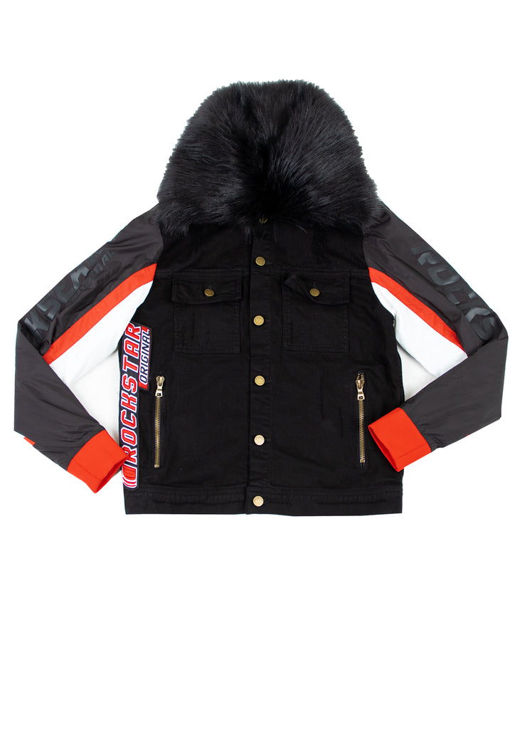 Ian Fur Jacket (Red Patch)