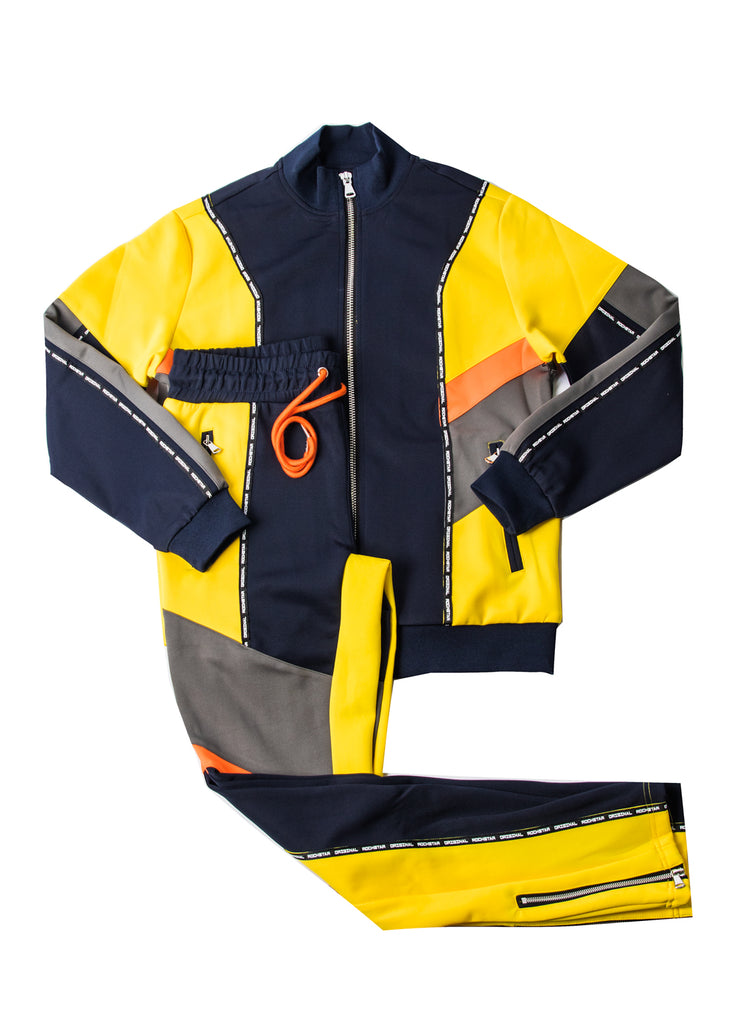 Jackie Track Set (Navy/Yellow/Orange)