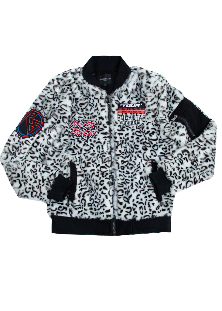 Jag Cheetah Fur Bomber w/ Patches