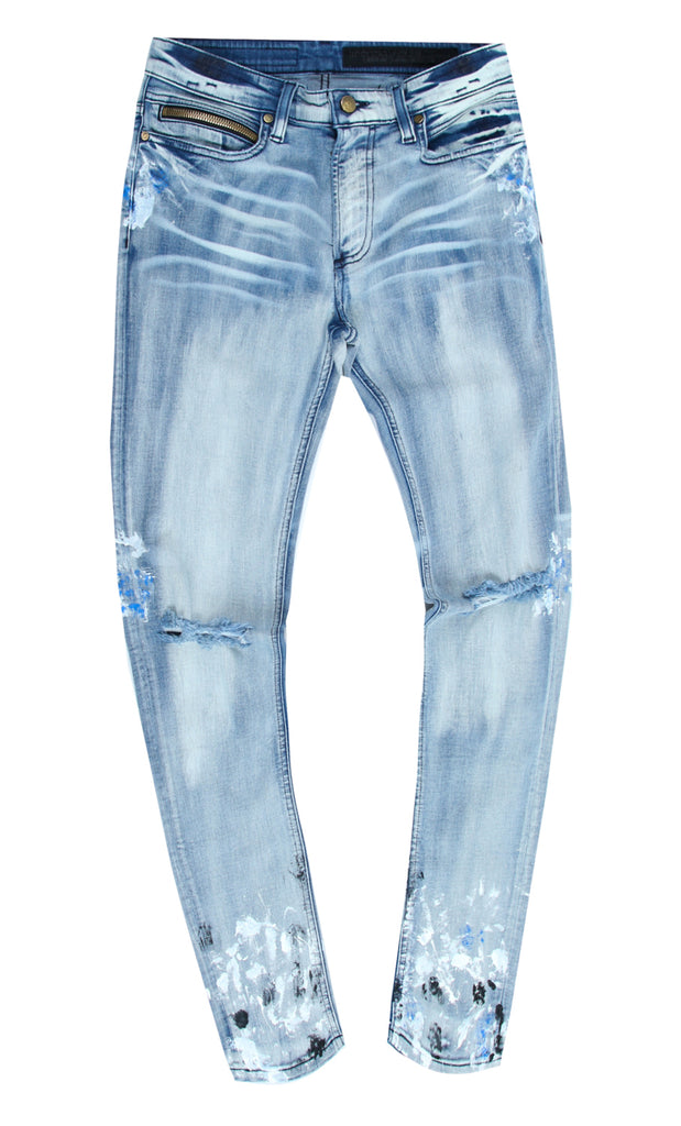 Kodak Tie Dye Painted Pant (Royal Blue)