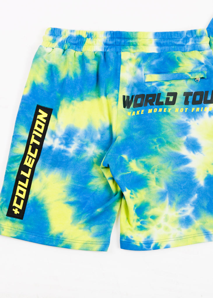 Karter Tie Dye Short Set (Green)