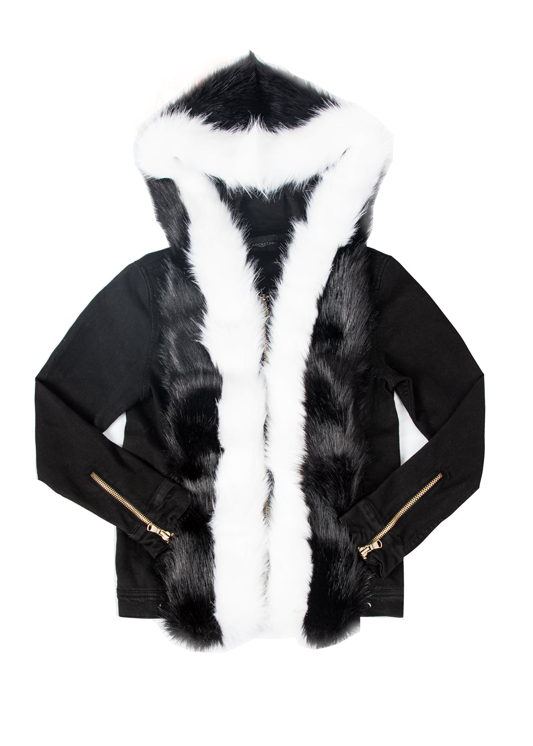 Olin Black Fur Jacket