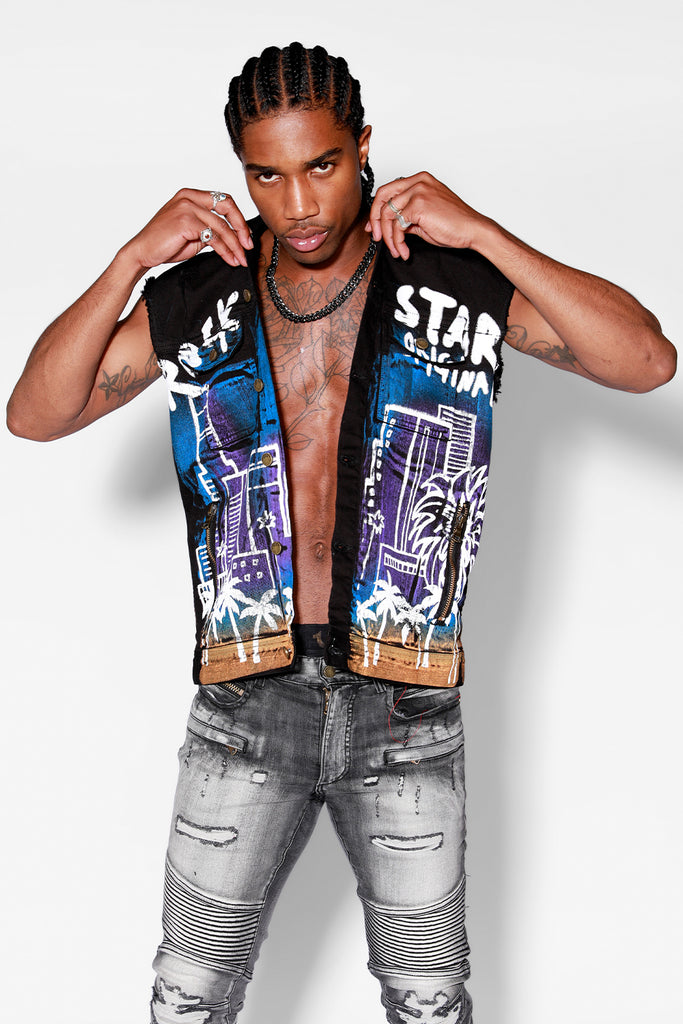Osiris Denim Vest (Black)