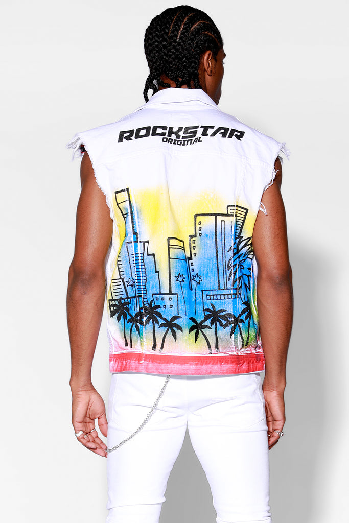 Osiris Denim Vest (White)