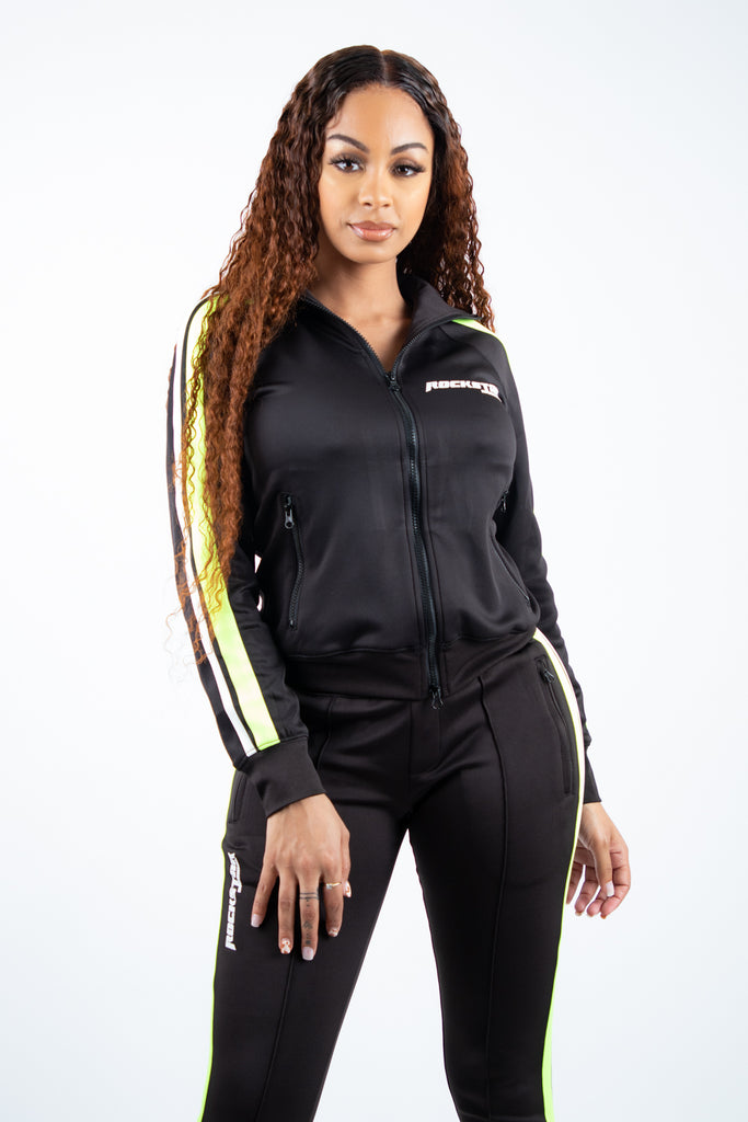 Jennie Trackset - Blk/Lime