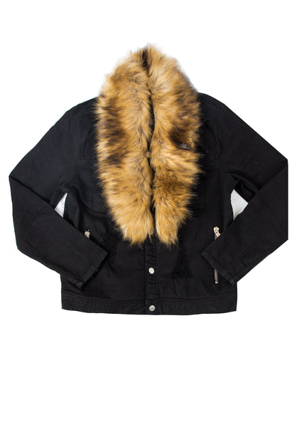 RALLY Fur Jacket (Black)