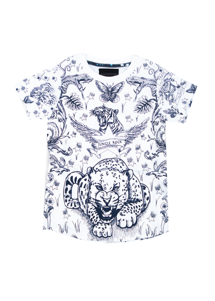 1036 Rockstar Animal T-shirt (White)