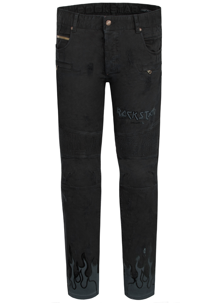 Zane Black Biker Jeans (Outlet)