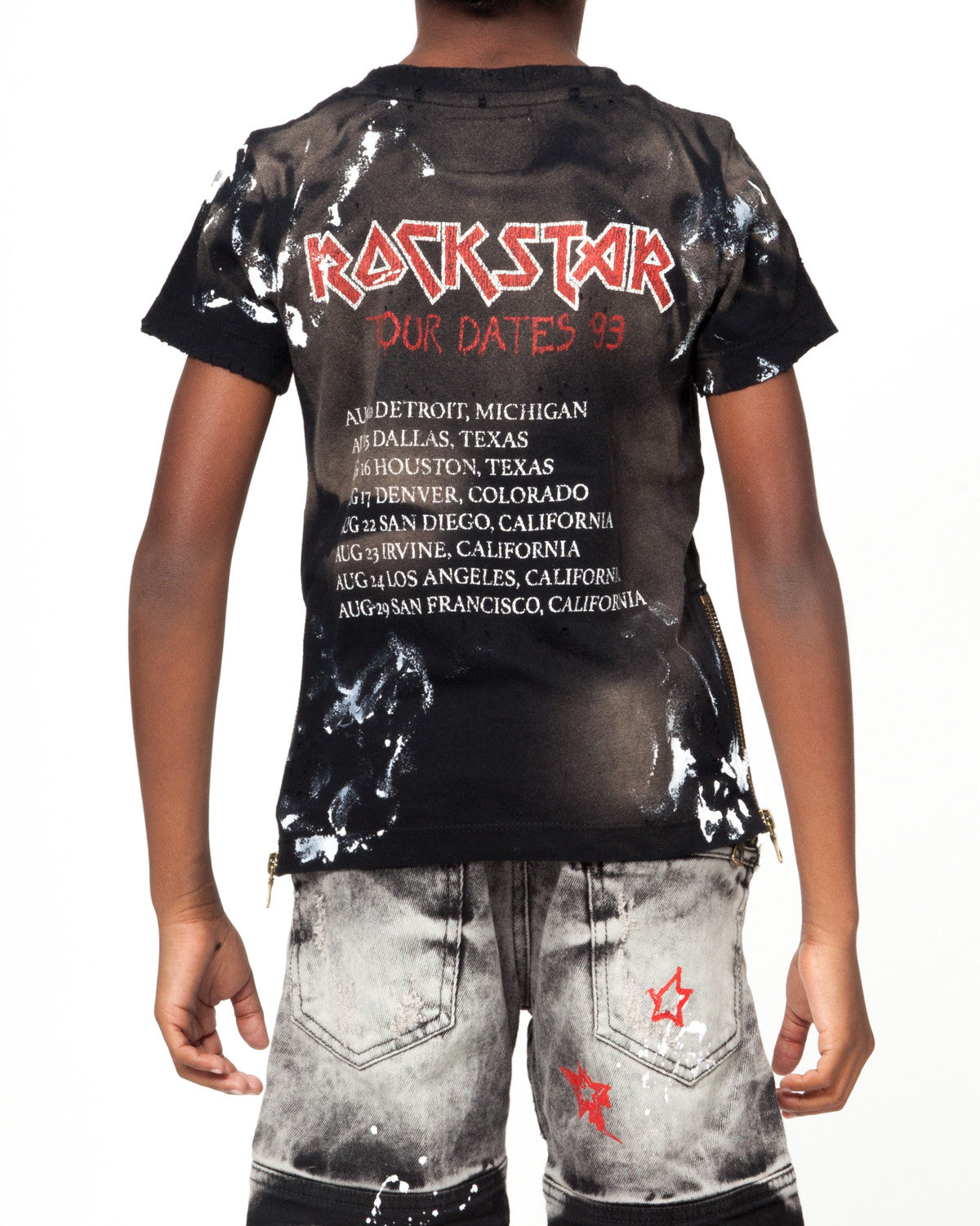 Kids Rockstar Slayer T BLACK
