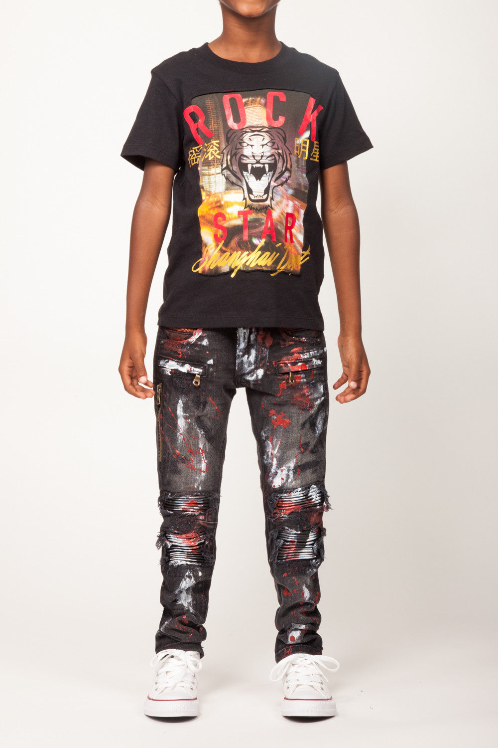 John Black Biker Denim T