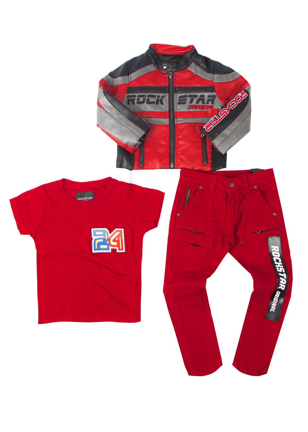 Kids (3 piece) Thunder Set Red