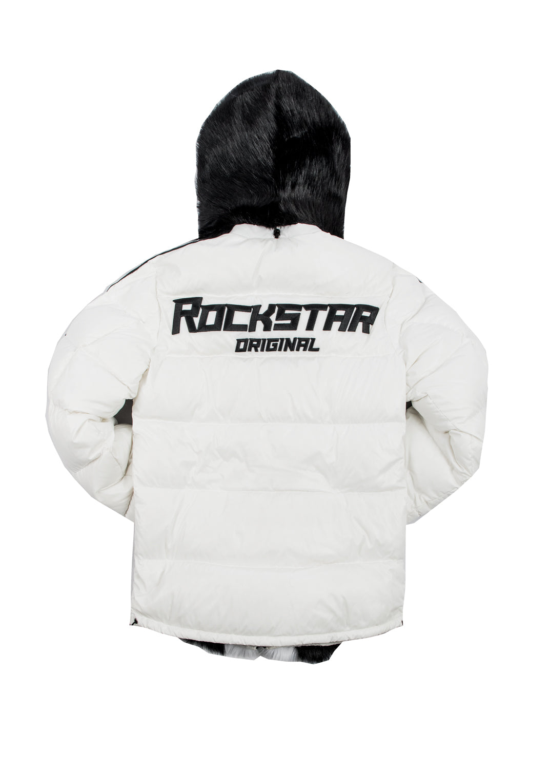 Alasia Puffer Jacket (White) **Fur**