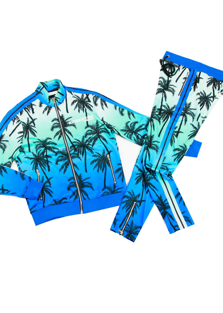 EVES PALM PRINT SET (BLUE)