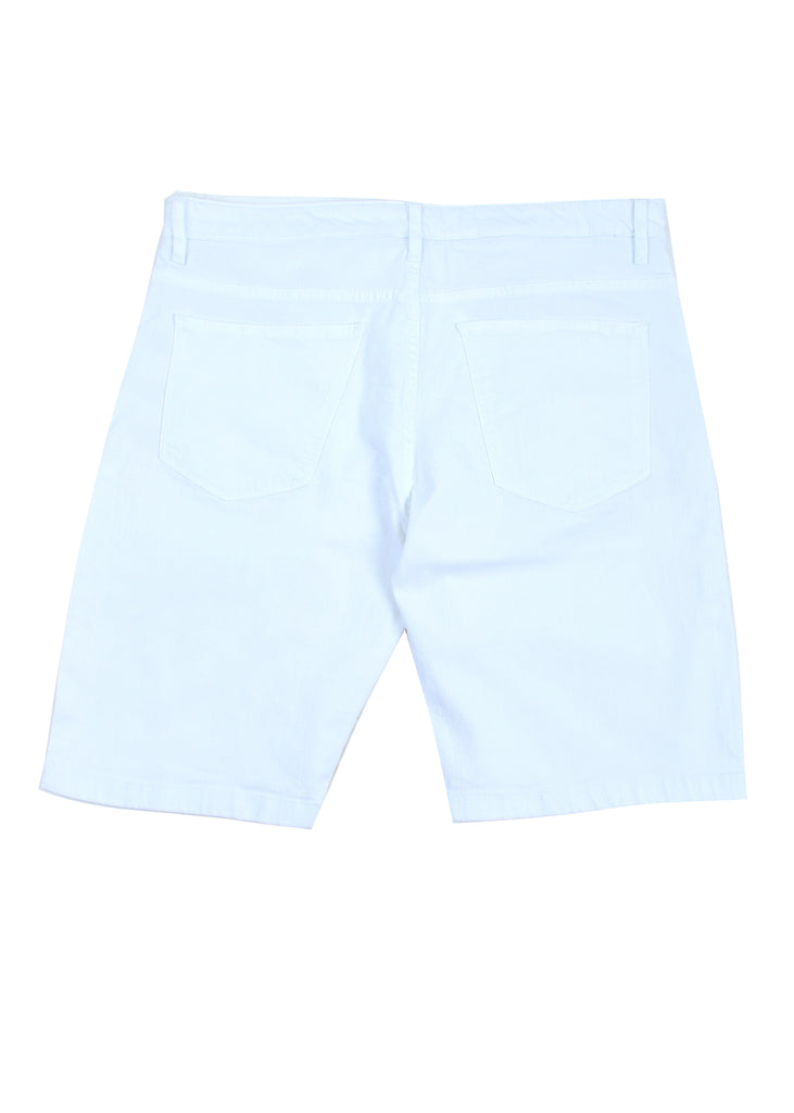Koontz Denim Shorts (White)