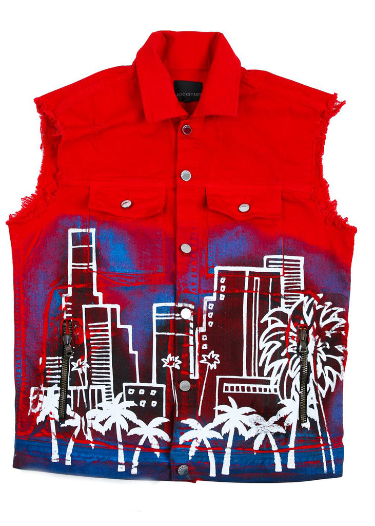 Osiris Denim Vest (Red)