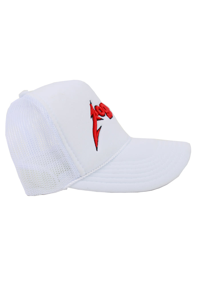 Rockstar Trucker Hat (White)