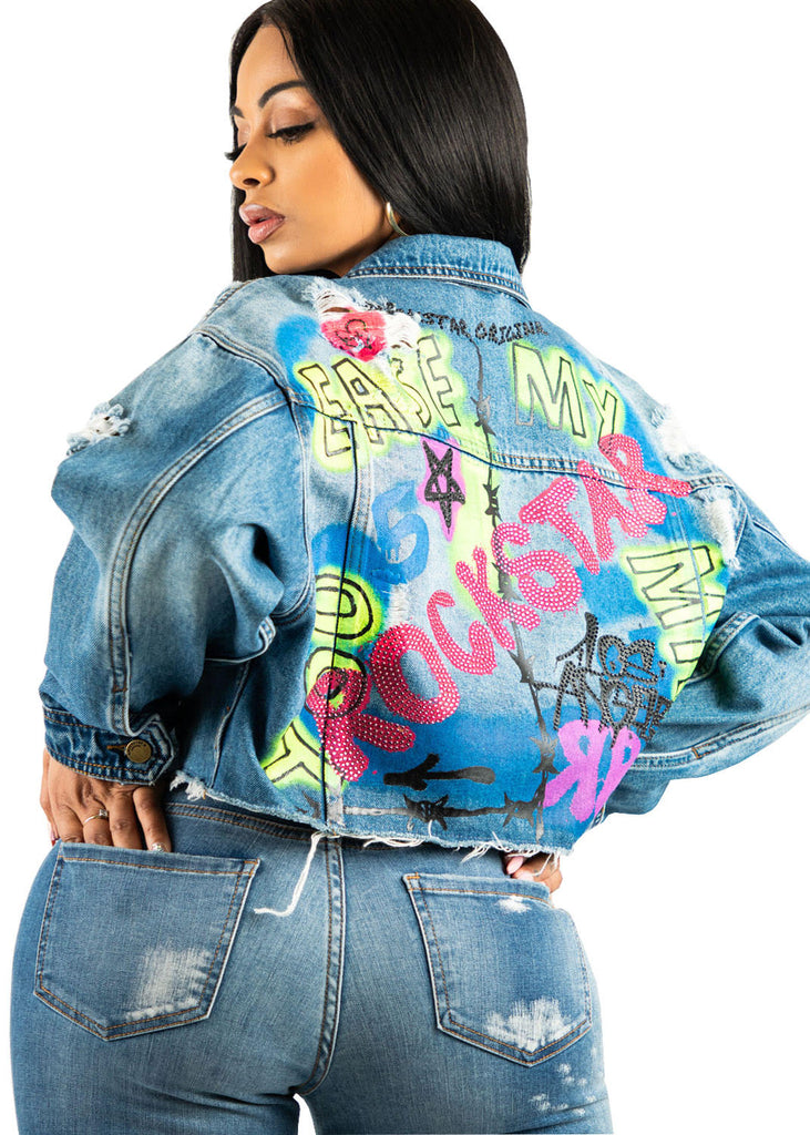 Heather Jacket - Blue/Multi