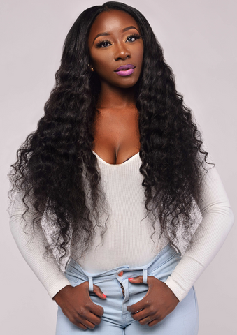 deep wave human hair styles boojee hair 8953 | deepwave front large