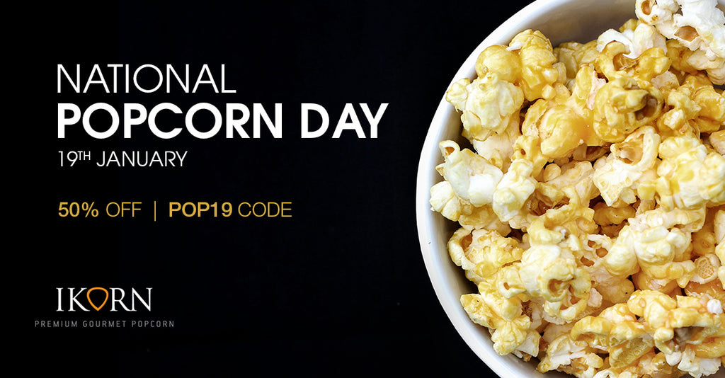 50% OFF! Today is National Popcorn Day