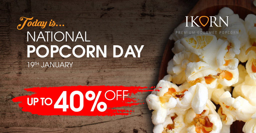 Up to 40% OFF! Today is National Popcorn Day