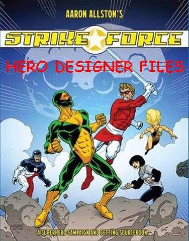 Strike Force Hero Designer Character Pack