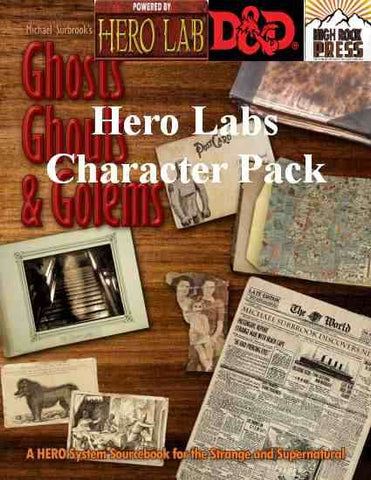 Ghosts Ghouls and Golems Dungeons & Dragons 5th Edition Hero Lab Character Pack