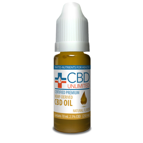Hemp Oil - 10 ml - 250 mg CBD - Natural