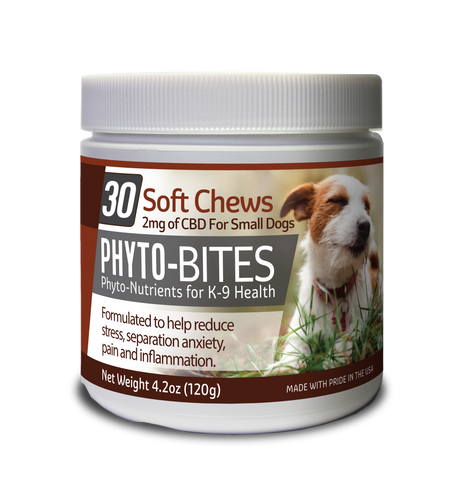 Phyto-Bites - 2mg CBD Soft Chews For Small Dogs - 60ct