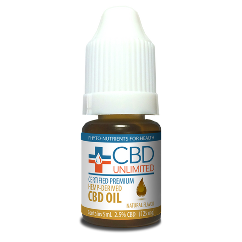 Hemp Oil - 5 ml - 125 mg CBD - Natural