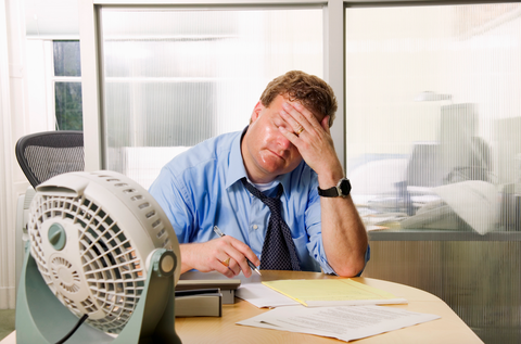 how to avoid sweating in your office