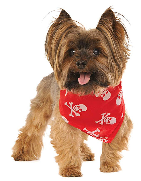 Red Skulls and Bones Pet / Dog Bandana
