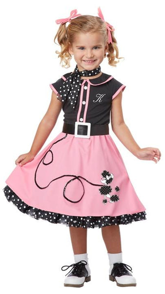 Toddler 50's Poodle Cutie Costume