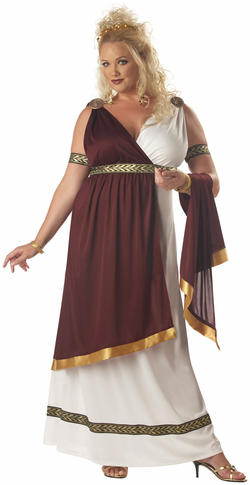 Adult Plus Roman Empress Costume